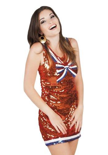Oranje Jurkje met Glitter Holland
