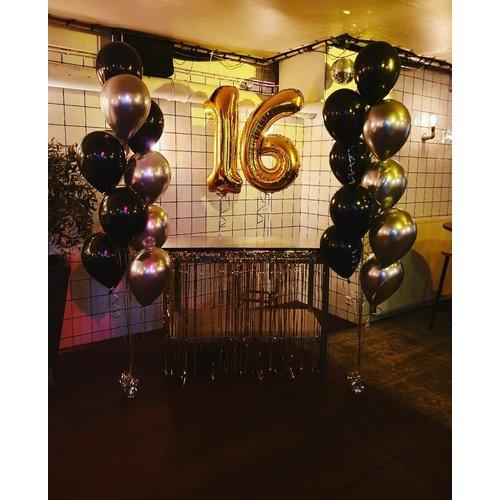 Staander van 10 heliumballonnen