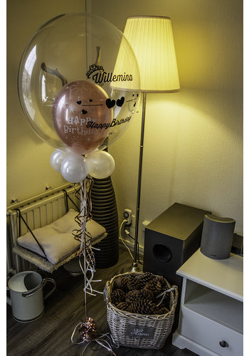 Bedrukte Ballon - Happy Birthday Girl