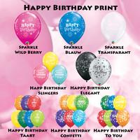 thumb-Cadeau Ballon met Glitter-9