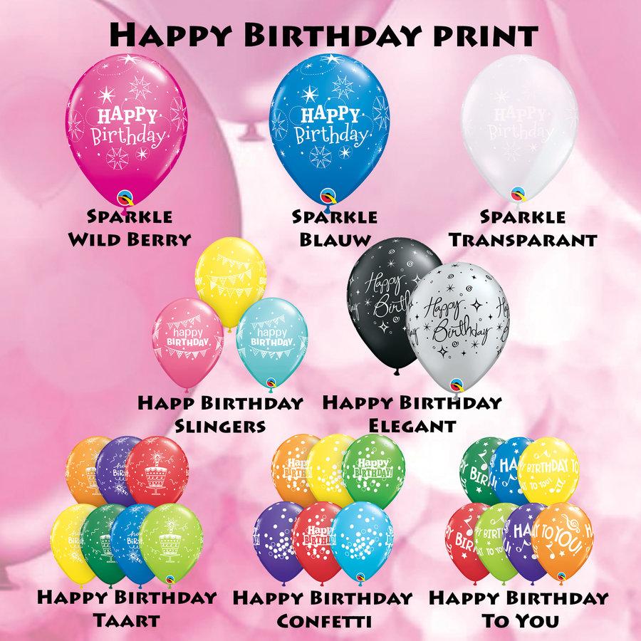Cadeau Ballon met Glitter-9