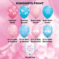 thumb-Cadeau Ballon met Glitter-10