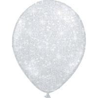 "thumb-Heliumballon Glitter Zilver - 11"" (28cm)-1"