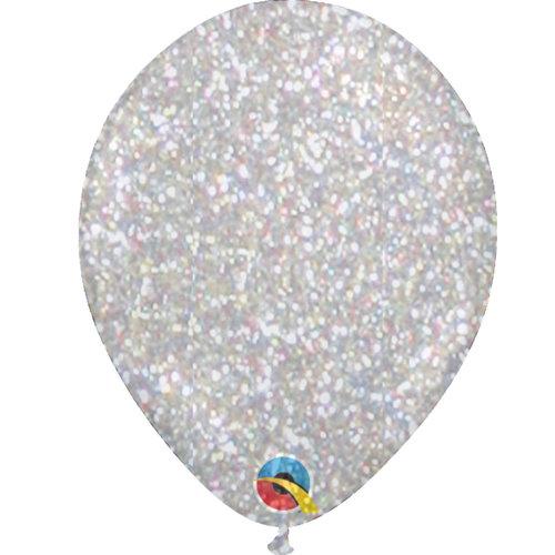 """Heliumballon Glitter Multi Color - 11"""" (28cm)"""