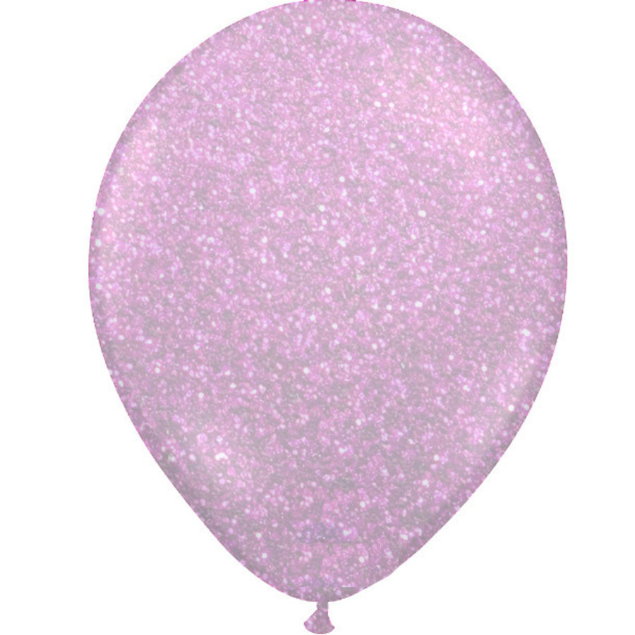 "Heliumballon Glitter Hot Pink - 11"" (28cm)-1"