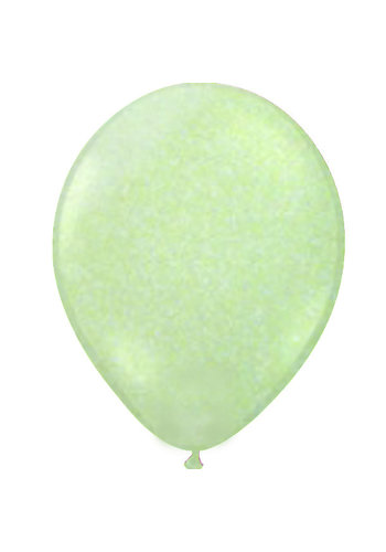 "Heliumballon Glitter Groen - 11"" (28cm)"