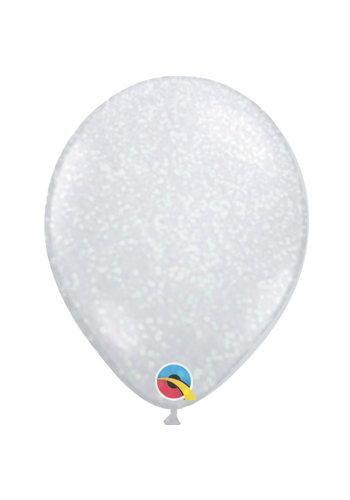 """Heliumballon Glitter Iridescent - 11"""" (28cm)"""