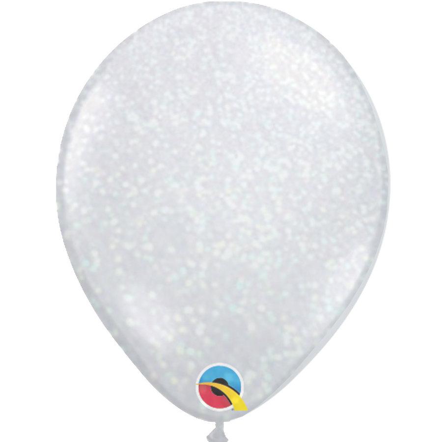 """Heliumballon Glitter Iridescent - 11"""" (28cm)-1"""
