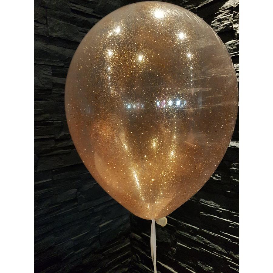 "Heliumballon Glitter Goud - 11"" (28cm)-3"