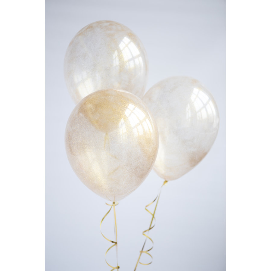 "Heliumballon Glitter Goud - 11"" (28cm)-5"