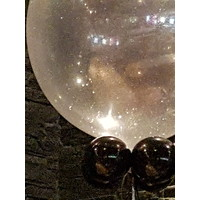 "thumb-Heliumballon Glitter Zilver - 11"" (28cm)-2"