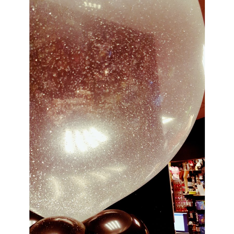 "Heliumballon Glitter Hot Pink - 11"" (28cm)-2"