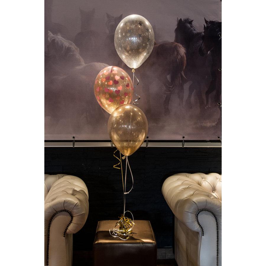 "Heliumballon Glitter Hot Pink - 11"" (28cm)-5"