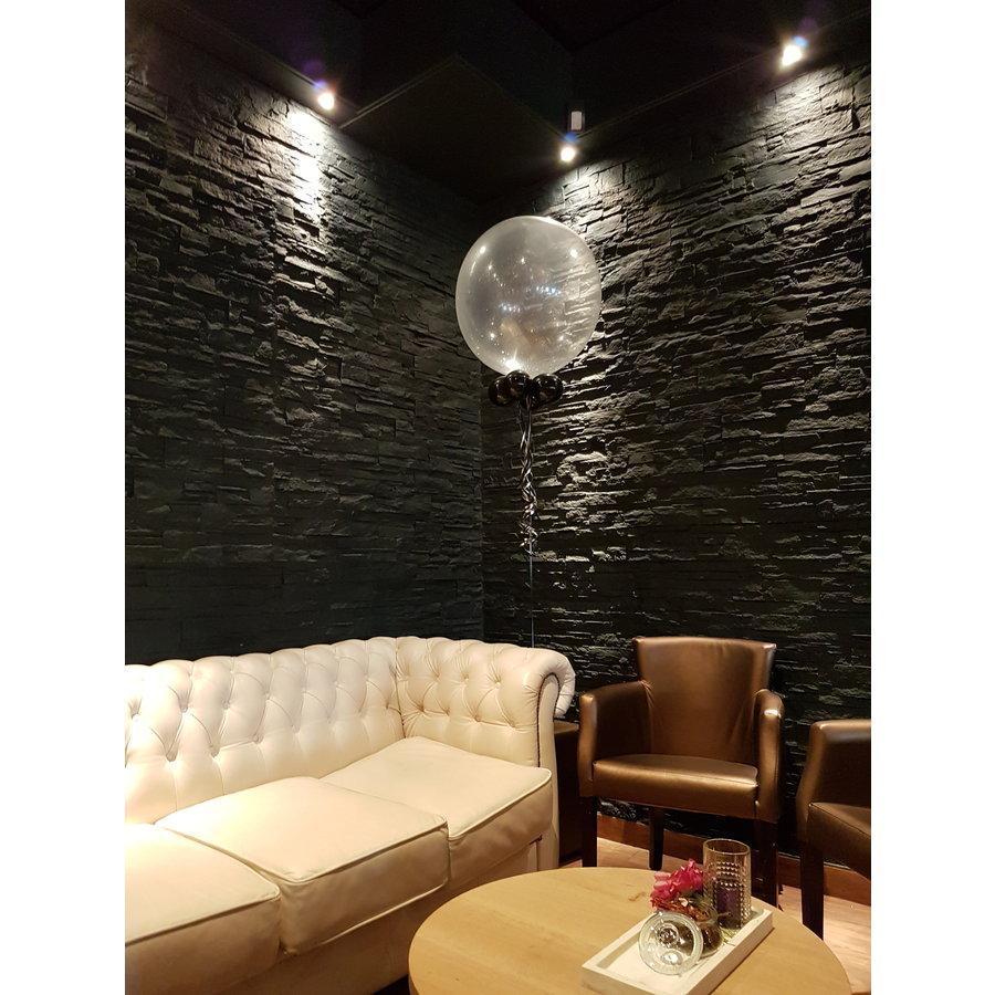 "Heliumballon Glitter Roze - 11"" (28cm)-5"