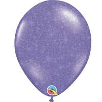 """thumb-Heliumballon Paars met Glitter - 11"""" (28cm)-1"""
