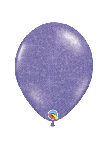 """Heliumballon Paars met Glitter - 11"""" (28cm)"""