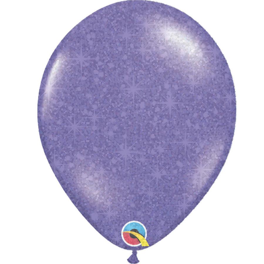 """Heliumballon Paars met Glitter - 11"""" (28cm)-1"""