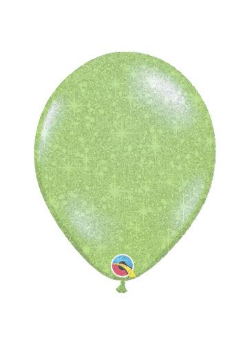 """Heliumballon Lime Groen met Glitter - 11"""" (28cm)"""