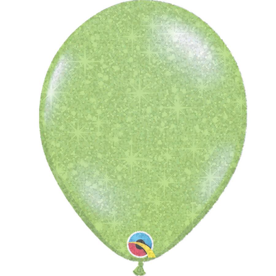 """Heliumballon Lime Groen met Glitter - 11"""" (28cm)-1"""