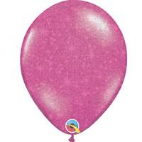 "thumb-Heliumballon Magenta met Glitter - 11"" (28cm)-1"