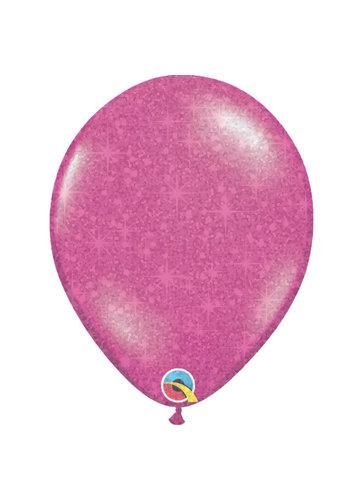 "Heliumballon Magenta met Glitter - 11"" (28cm)"