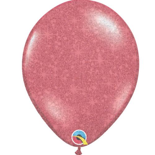 """Heliumballon Rood met Glitter - 11"""" (28cm)"""