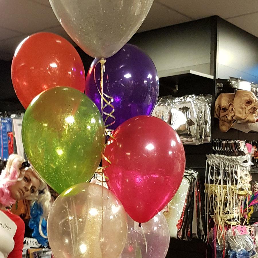 "Heliumballon Blauw met Glitter - 11"" (28cm)-2"