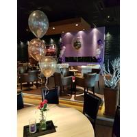 "thumb-Heliumballon Magenta met Glitter - 11"" (28cm)-4"