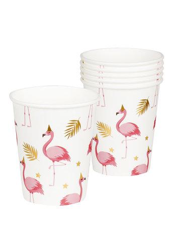 Bekertjes Flamingo - 250ml - 6 stuks