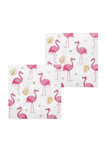 Servetten Flamingo - 33x33cm - 12 stuks