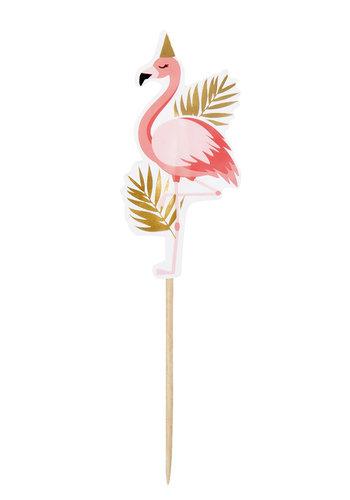 Flamingo Prikkertjes - 12 stuks - 13cm