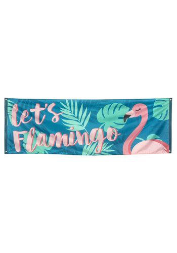 Mega Banner Let's Flamingo - 220x74cm