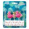 Kaarsjes Flamingo/ananas - 5 stuks