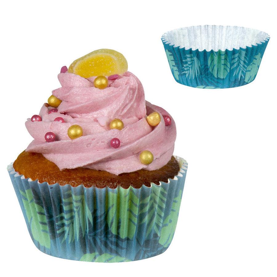 Cupcake vormpjes Flamingo - 50stuks - 6,5cm-1
