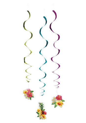 Decoratie swirls Paradise - 3 stuks - 60cm