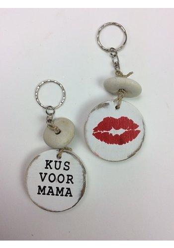 Sleutelhanger - Kus voor Mama