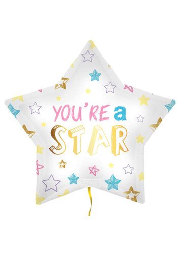 Folieballon You're A Star - 45cm