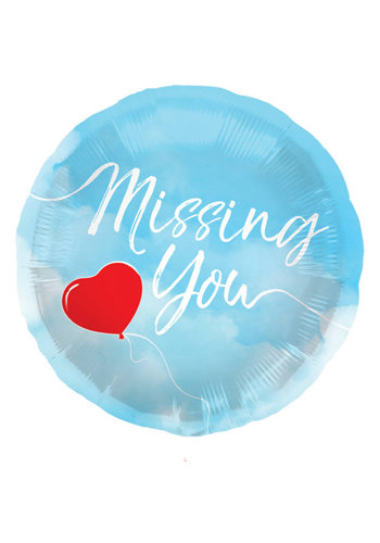 Folieballon Missing You - 45cm