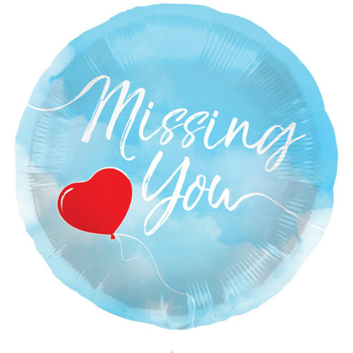 Folieballon Missing You - 45cm