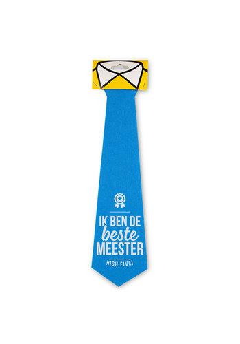 Stropdas - Beste Meester - Blauw