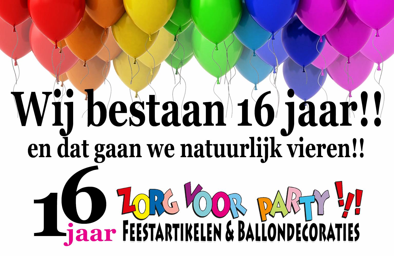 Zorg voor Party bestaat 16 jaar!!!