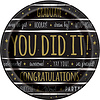 Bordjes Graduate You Did It - 22cm - 8 st