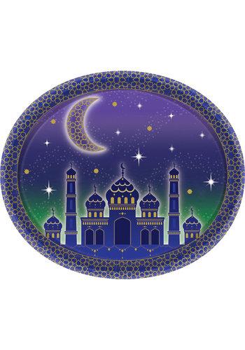 Bordjes Eid Papier Ovaal - 8 stuks - 30cm