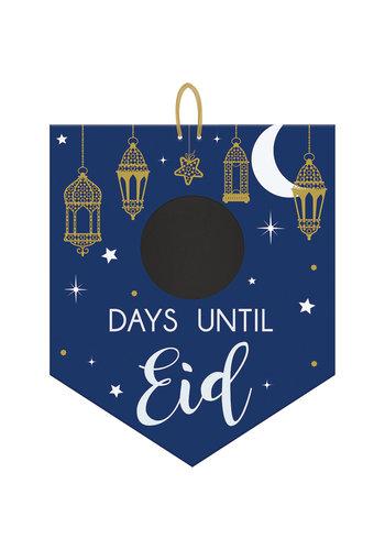 Aftel Vlag Eid - MDF - met schoolbordje