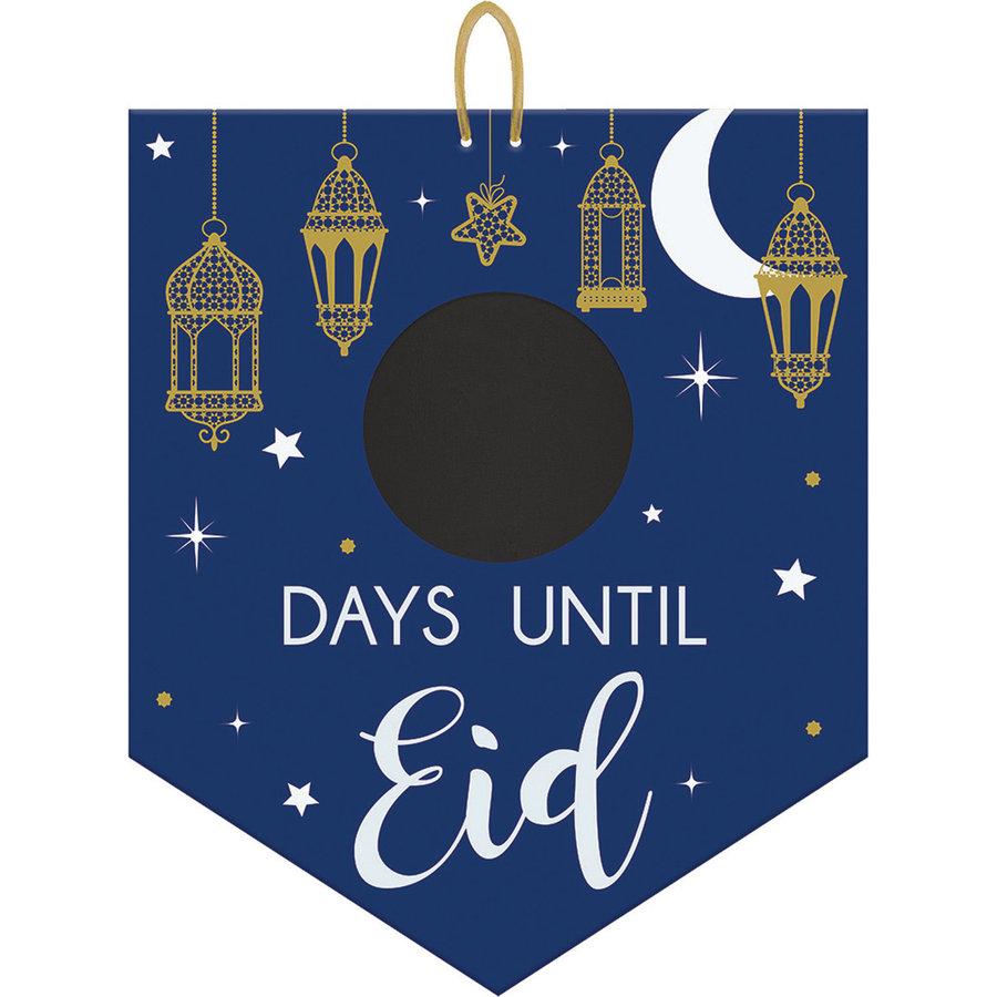 Aftel Vlag Eid - MDF - met schoolbordje-1