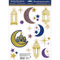Raamstickers Eid Glitter