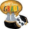 Folieballon Luiaard Well Done Grads - 68x71 cm