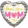Folieballon I Love you Mom - 45cm