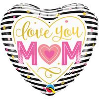 thumb-Folieballon I Love you Mom - 45cm-1