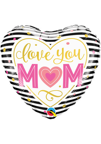 Folieballon I Love you Mom - 45cm